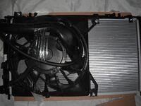 Радиатор охлаждения двигателя на Лада Гранта в сборе с вентилятором