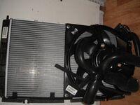 Радиатор охлаждения двигателя на Лада Калина с кондиционером Panasonic в сборе
