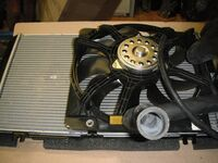 Радиатор охлаждения двигателя для Лада Приора с кондиционером Рanasonic в сборе
