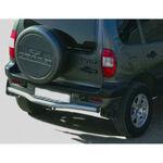 Защита заднего бампера с алюминиевым листом на ВАЗ 2123 Шевроле Нива