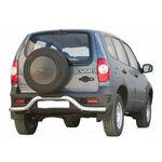 """Защита заднего бампера """"Волна"""" на ВАЗ 2123 Шевроле Нива RS (restyling. с 2009)"""