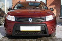 "Накладка ""Губа"" тиснёная на Renault Sandero"