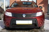 Накладка-кенгурятник в бампер на Renault Sandero
