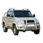 Защита переда с доп. защитой бампера d76 на УАЗ Патриот