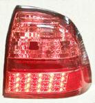 """Задние диодные фонари """"Red Light"""" в красном лаке, для автомобилей Лада Приора"""