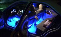 Многоцветная лента для подсветки салона с пультом - 5м.