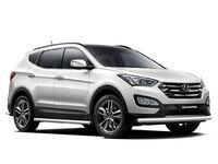 Защита порогов d63 на Hyundai Santa Fe