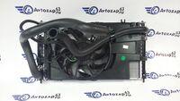 Радиатор охлаждения двигателя и кондиционера для Лада Гранта в сборе нового образца (автомат)