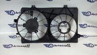 Диффузор (кожух) на вентилятор охлаждения радиатора двигателя Приора (2170, 71, 72) c кондиционером Halla