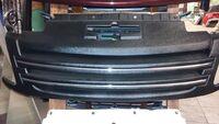 Решетка радиатора на ВАЗ 2190 Лада Гранта Джетта (Шагрень и хром)