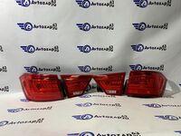 Светодиодные тюнингованные LED фонари на Лада Веста (красные)