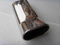 Насадка на глушитель Simota хромированая, плоская длинная с изгибом.