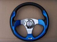 """Спортивный руль """"Blue Steel"""" для автомобилей ВАЗ синий"""