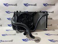 Радиатор охлаждения двигателя и кондиционера на Лада Гранта, Калина 2 в сборе (механика)