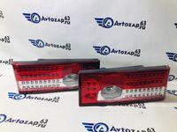 Светодиодные фонари с бегающими поворотниками красно-белые на ВАЗ 2108-2109, 2113, 2114