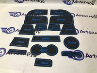 Комплект ковриков панели приборов и консоли на Лада Xray