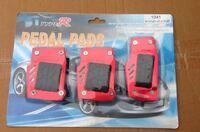 Накладки на педали Type R красные с резинкой