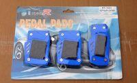 Накладки на педали Type R синие с резинкой