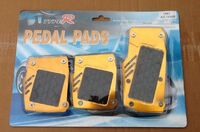 Накладки на педали Type R желтые с резинкой
