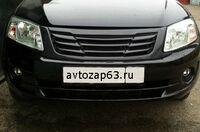Декоративные решетки на радиатор для ВАЗ 2190 Лада Гранта